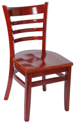 ladder back wood chair